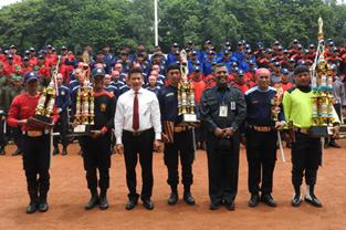 Apel Gabungan PT. Garda Bhakti Nusantara - Lomba PBB, Drill Tongkat & Borgol