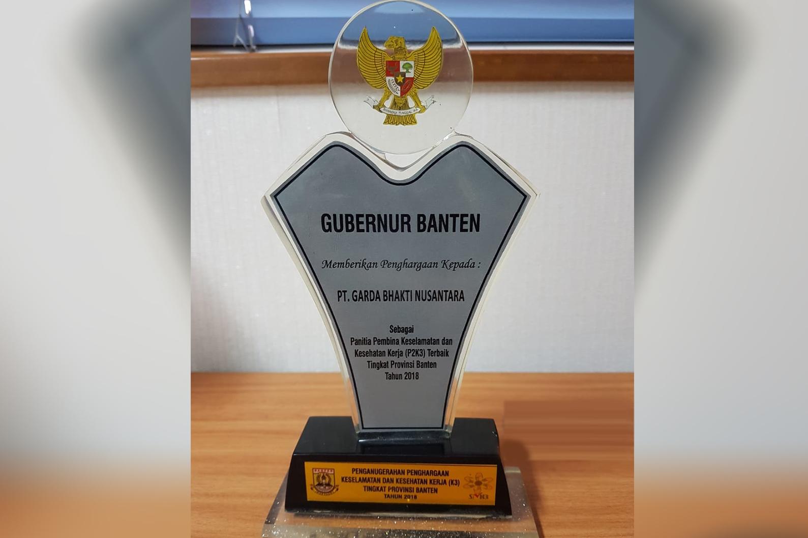 Penghargaan Gubernur Banten untuk GBN
