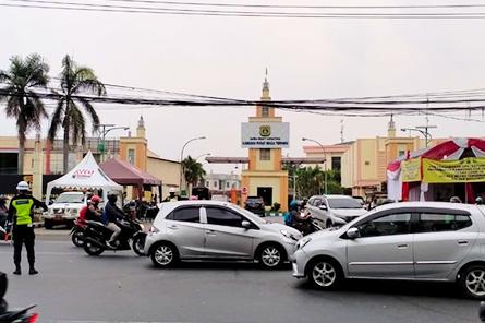 Pengaturan Lalin GBN pada Titik Cek Poin PSBB Kota Tangerang